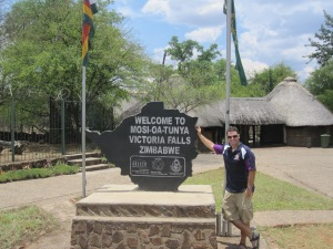 Entering the Zimbabwean side of the Falls