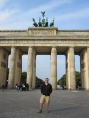 Mathew at The Brandenburg Gate