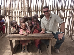 Mathew at the Masai school house