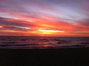 Sunset at St. Kilda Beach, Victoria, Australia