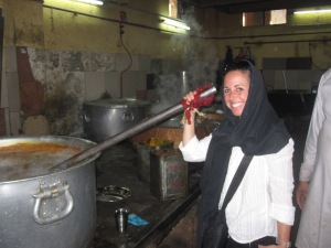 Largest pots I've ever seen at the Community Kitchen in the Sikh Temple-Dehli, India