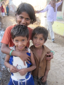 Children from the Barso village outside of Bharatpur