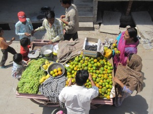 Local vendors on city streets in India