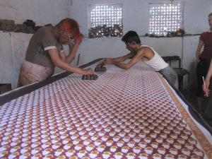 Block printing on textiles in Jaipur, India