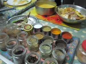 Aromatic spices used in our local cooking class
