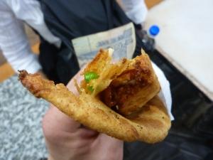 Potato & Vegetable Paratha from street vendor in Chandi Chowk