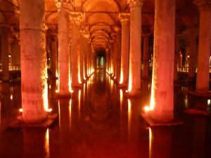 Lights, water & medusa...Basilica Cistern