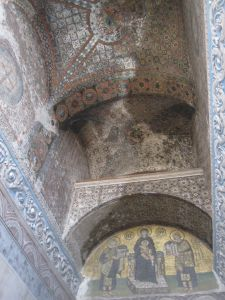 Ceiling design at the Hagia Sophia in Istanbul