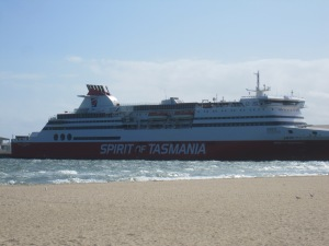 The Spirit of Tasmania out of Port Melbourne