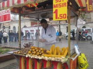 A street vendor in the Old City