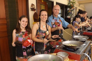 Cooking class with the family in Bangkok