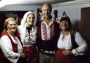 In Bulgaria with local women