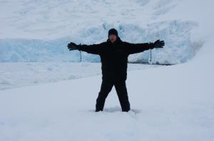 Jonny Blair at Neko Harbour in Mainland Antarctica
