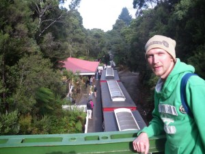 Jonny Blair at Rinadeena - the peak of the Western Wilderness Railway in Tasmania