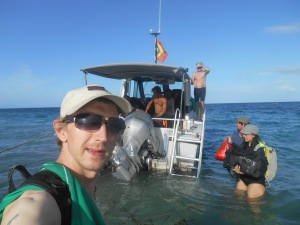 Jonny Blair of Dont Stop Living in the seas at Atauro Island East Timor