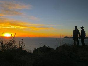 Sam and Zab in Lake Titicaca