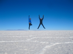 Sam and Zab in Salt Flats
