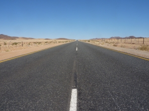 One of many open roads in Namibia