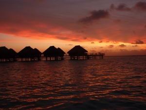 Over water bungalows - Moorea, French Polynesia