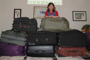 Founder of Pack for a Purpose, Rebecca Rothney, packs for Zambia