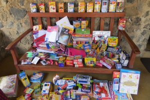 School supplies sent to Kenya by Pack for a Purpose