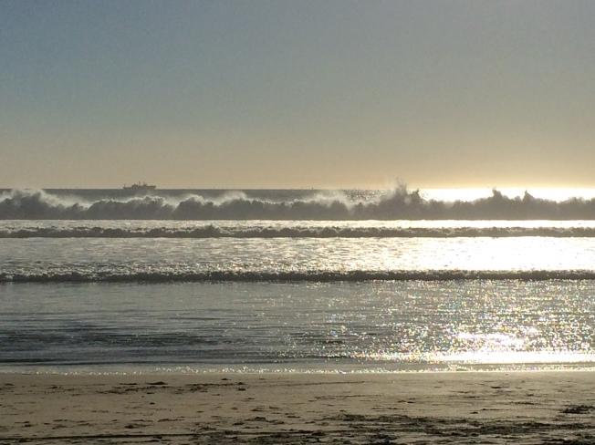 Coronado sands and surf-San Diego, California, USA