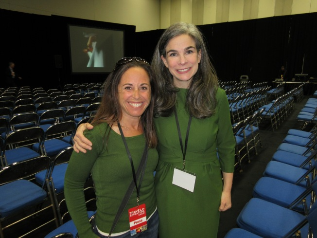 with Pauline Frommer at the Travel and Adventure show in San Diego, California