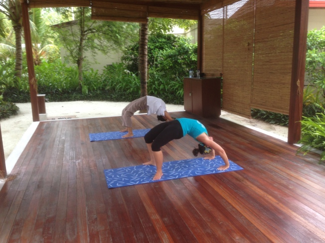 Yoga in the Maldives...a happy place