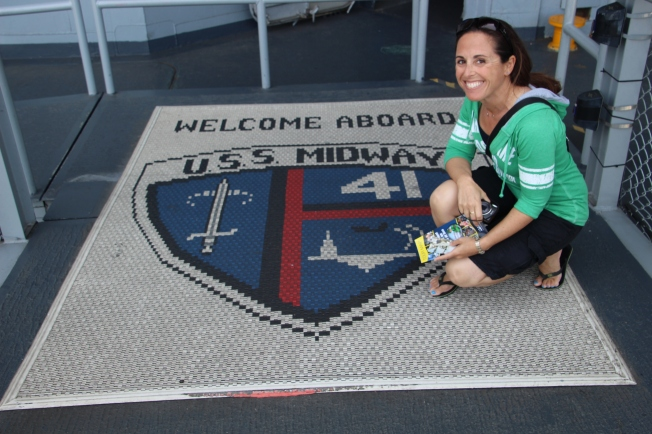 at the USS Midway-San Diego, California