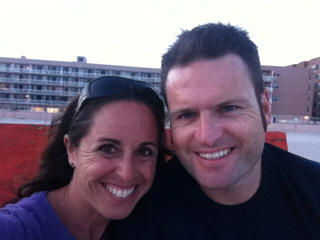 With the one I love on our lifeguard stand on one of my favourite beaches-Azores Beach, Long Beach, NY