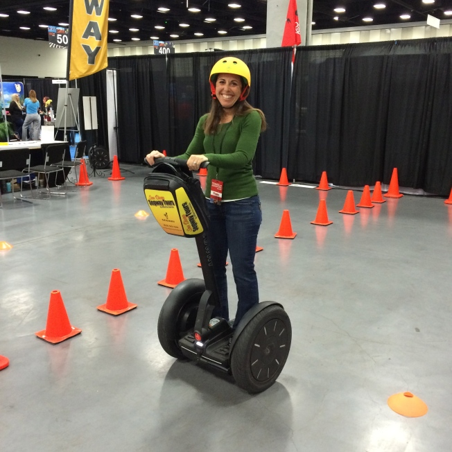 On a Segway at the San Diego Travel and Adventure Show