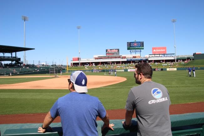 boys at the baseball