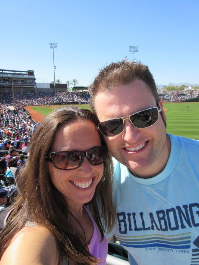 a day of sunshine and baseball in Arizona