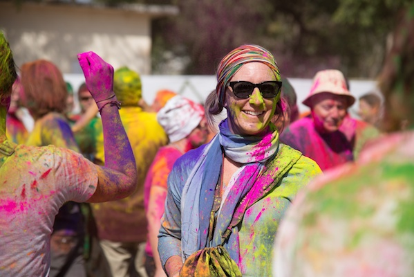 sherry ott 2 - playing in Holi in India
