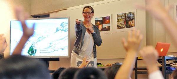 sherry ott 3 - teaching at Iolani School in Oahu