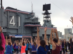Scripps Health Yoga at USS Midway 2015 - the gift of travel