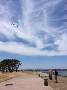 Tim flying a kite-San Diego 2015-the gift of travel