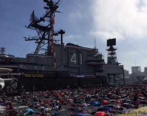 Savasana on the USS Midway 2015 - the gift of travel