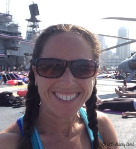 Scripps Health/Yoga One yoga at the USS Midway 2015 - the gift of travel