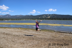 Jumping at the lake - Big Bear Lake, CA