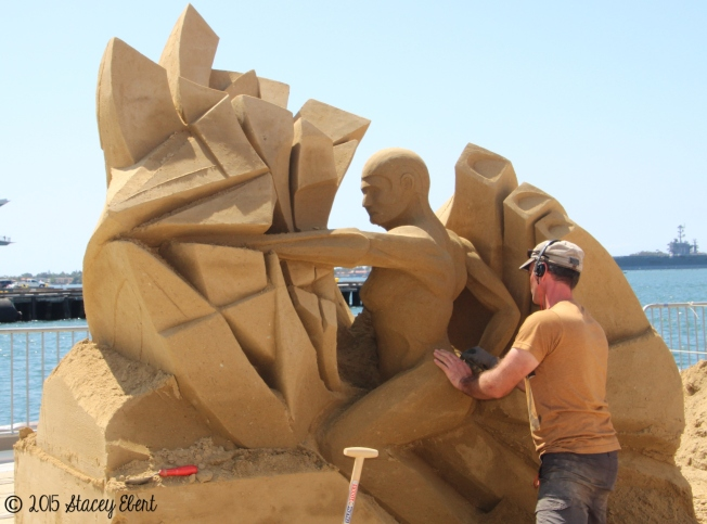Labor Day Sand Sculpting Challenge - the gift of travel -2nd place finisher