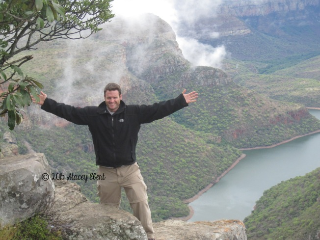 Husband at Blyde River Canyon - the gift of travel
