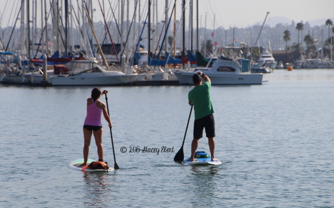Paddle boarding lesson - Kellogg Beach, Point Loma - the gift of travel