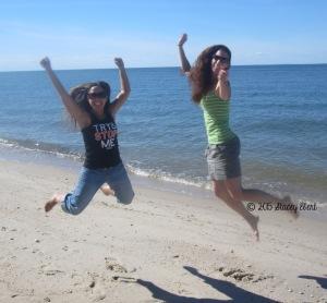 Stacey & Erin at camp - thegiftoftravel.wordpress.com