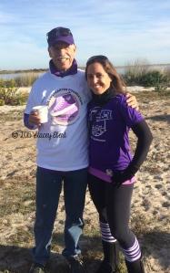 With Dad at Jones Beach Lustgarten Walk 2015 - thegiftoftravel.wordpress.com