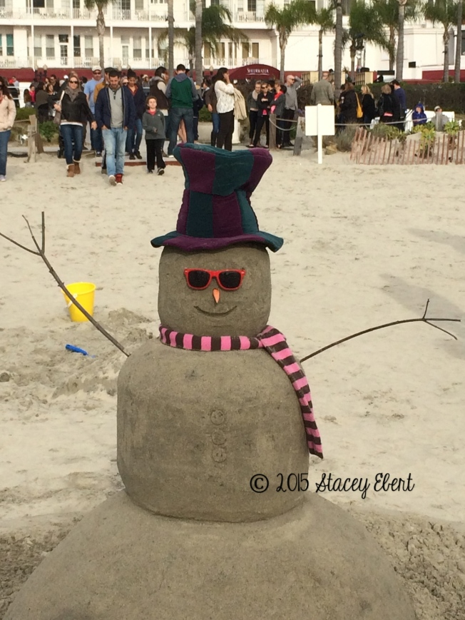 Sand Castle Man celebrates the season - thegiftoftravel.wordpress.com