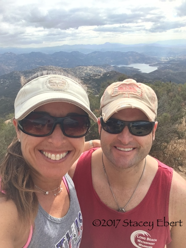 Hikers at the top of Iron Mountain, San Diego, CA
