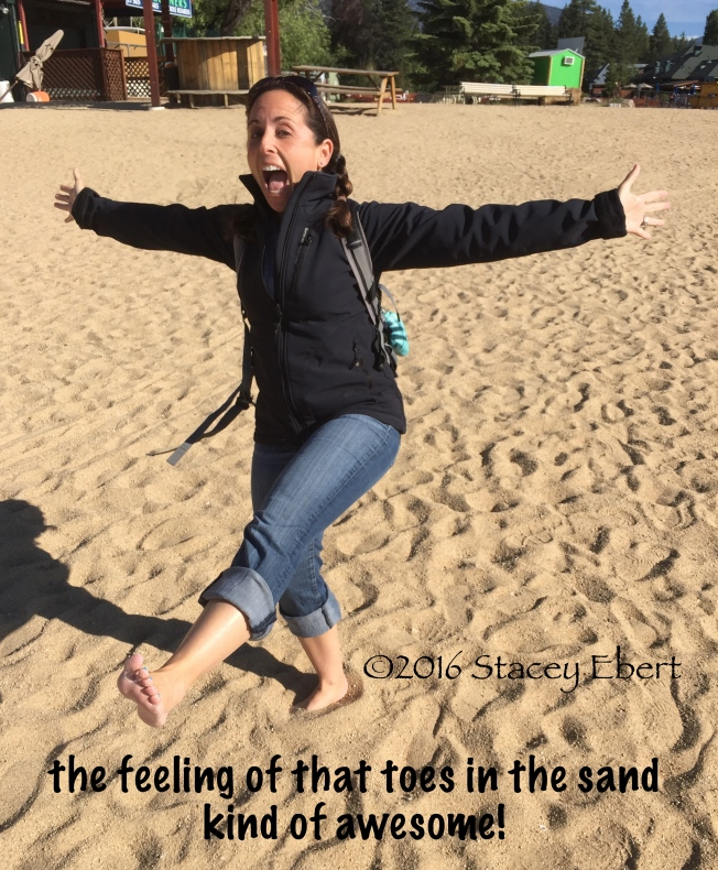 toes in the sand - Lake Tahoe